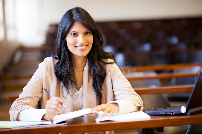 Download Indian college girl stock image. Image of cheerful, learning - 25909451