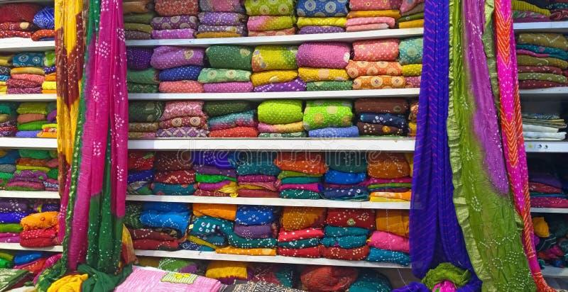 Indian Colorful Sarees stock photos