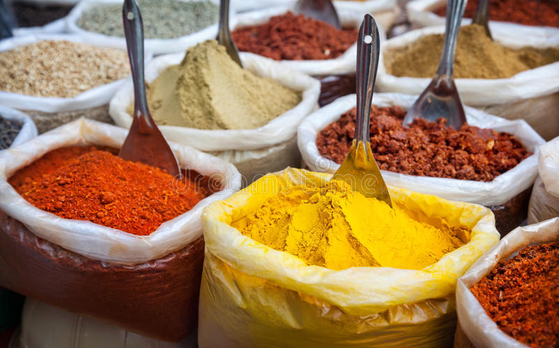 Indian colorful spices royalty free stock images
