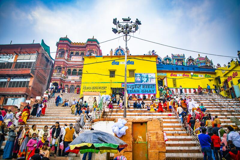 Indian Colorful Temples | Religious Place | Holy City royalty free stock photography