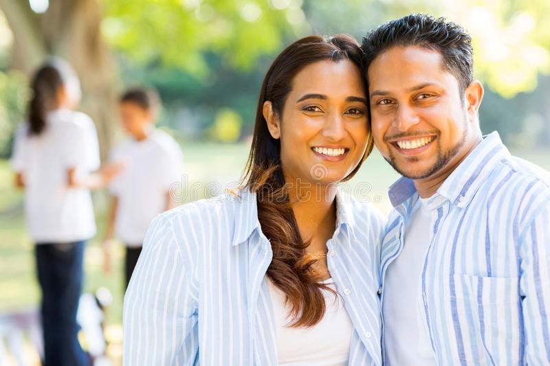 indian couple children royalty free stock photography