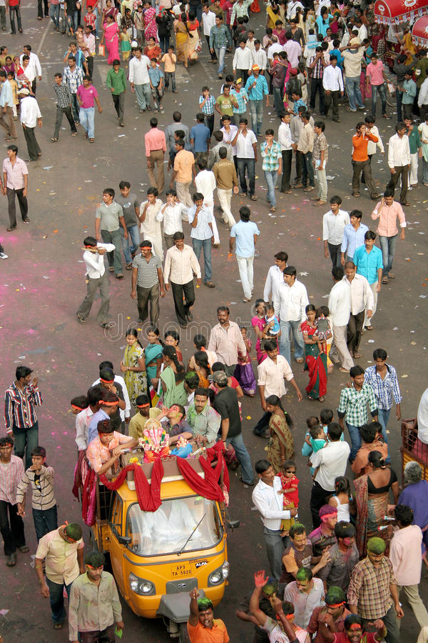 Indian Crowd In A Religious Event Editorial Stock Image