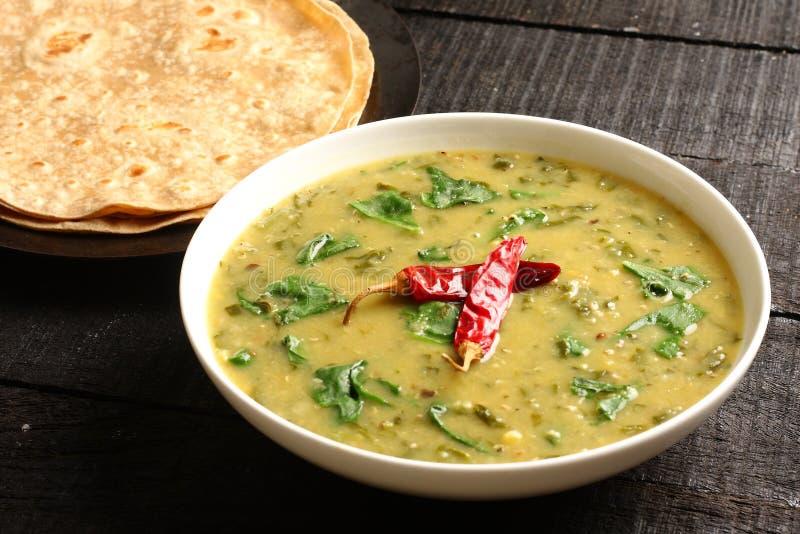 Indian cuisine- Dal palak dish stock image