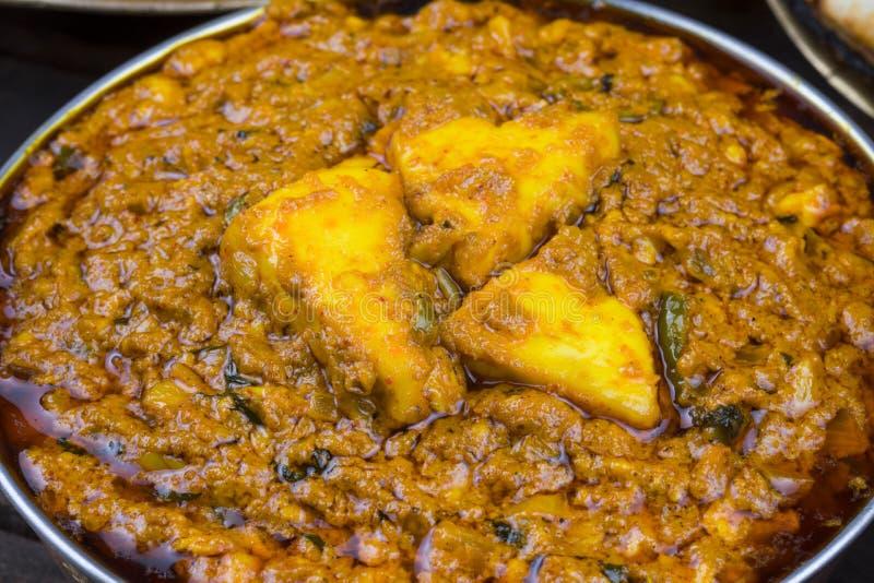 Indian Cuisine Kadai Paneer. Served With Dal Makhani or Tandoori Also Know as Kadhai Paneer or Karahi Paneer is an Indian Dish of Marinated Paneer Cheese Served stock photos