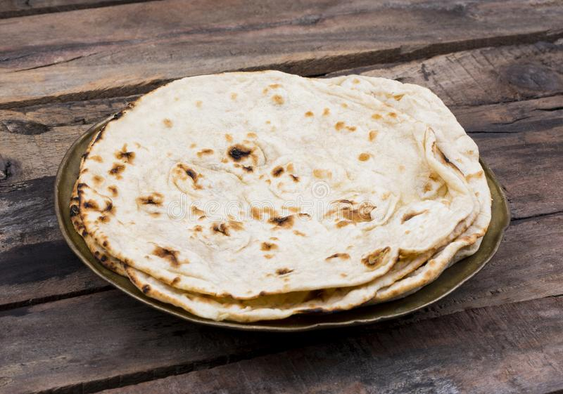Indian Cuisine Tandoori Roti stock photos