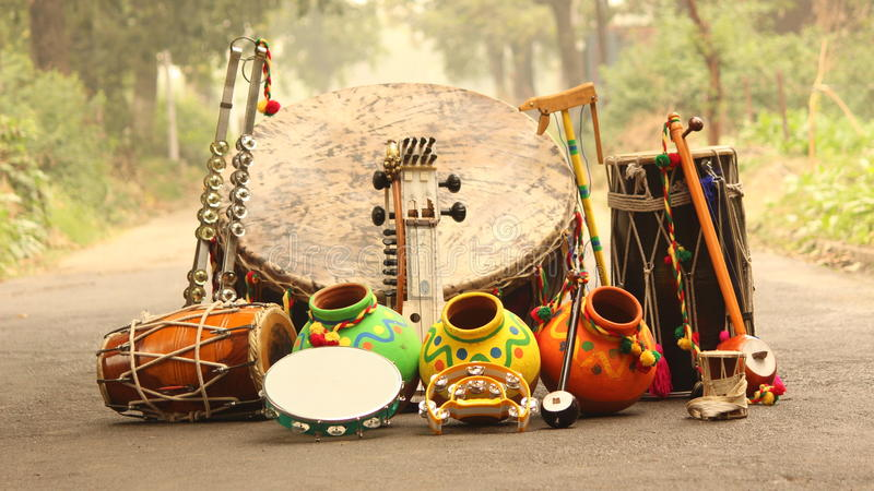 Indian cultural equipments stock photo