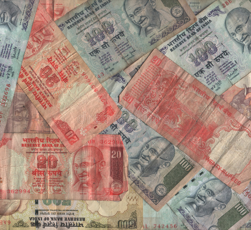 Indian currency collage stock photos