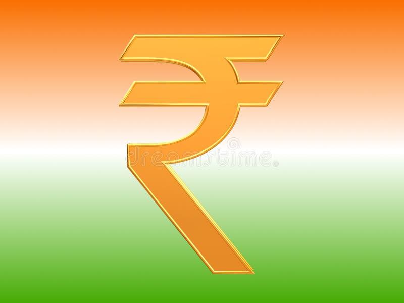 Indian Currency Rupee Symbol Design Stock Illustration