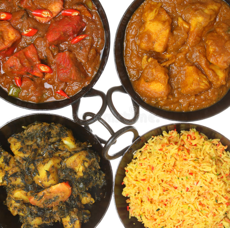 Download Indian Curry Food & Rice stock image. Image of selection - 18160391