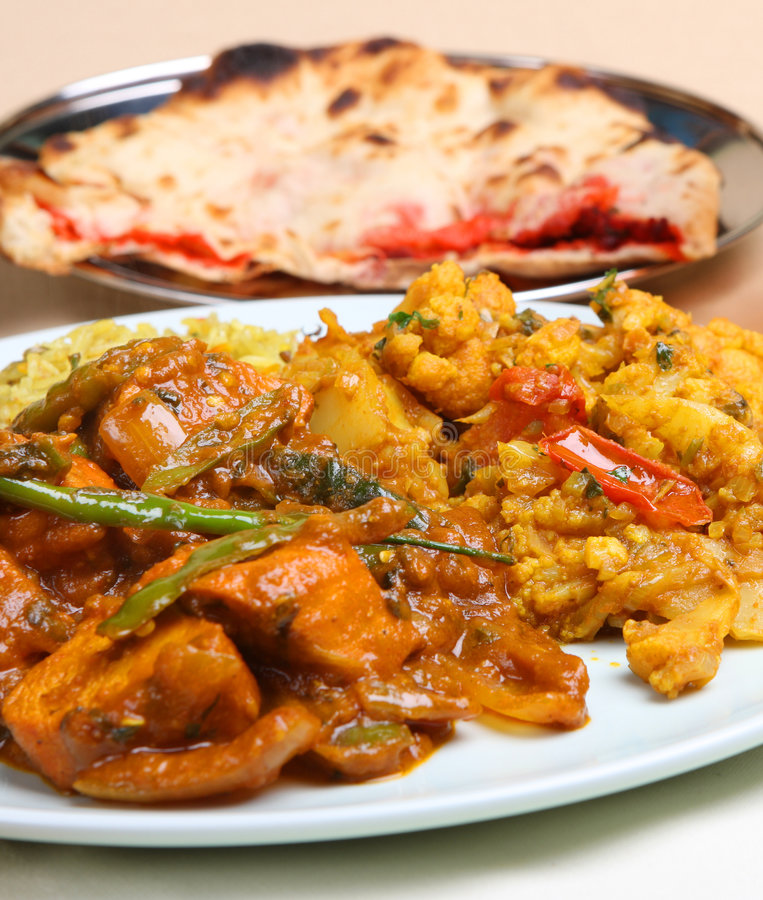 Indian Curry Meal stock image