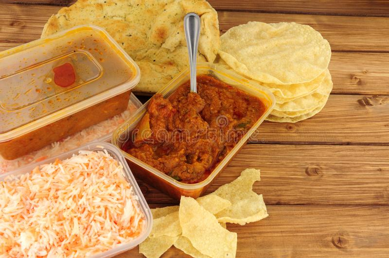Indian Curry Take Away Meal royalty free stock image
