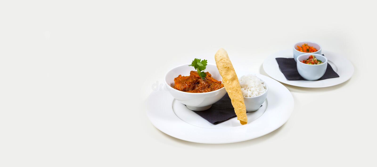 Gourmet Bar Food on a white background stock images