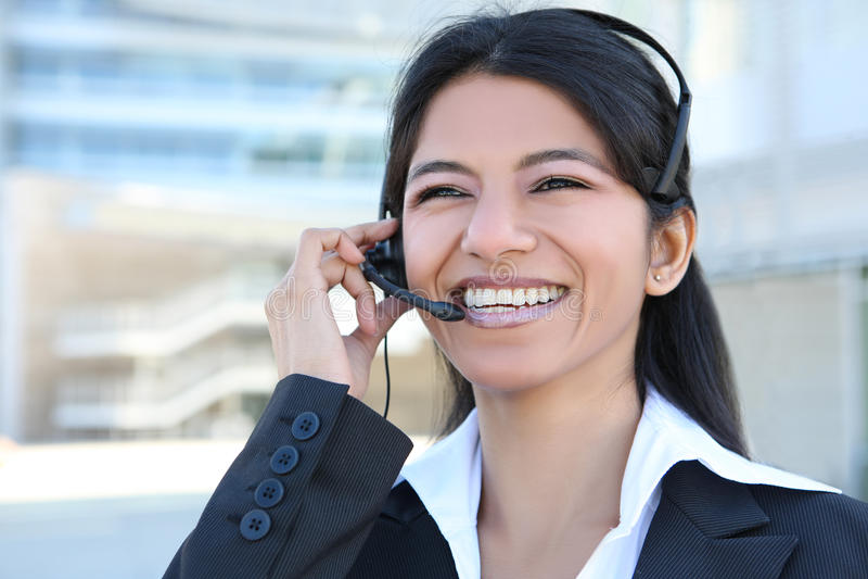 Indian Customer Service Woman stock image