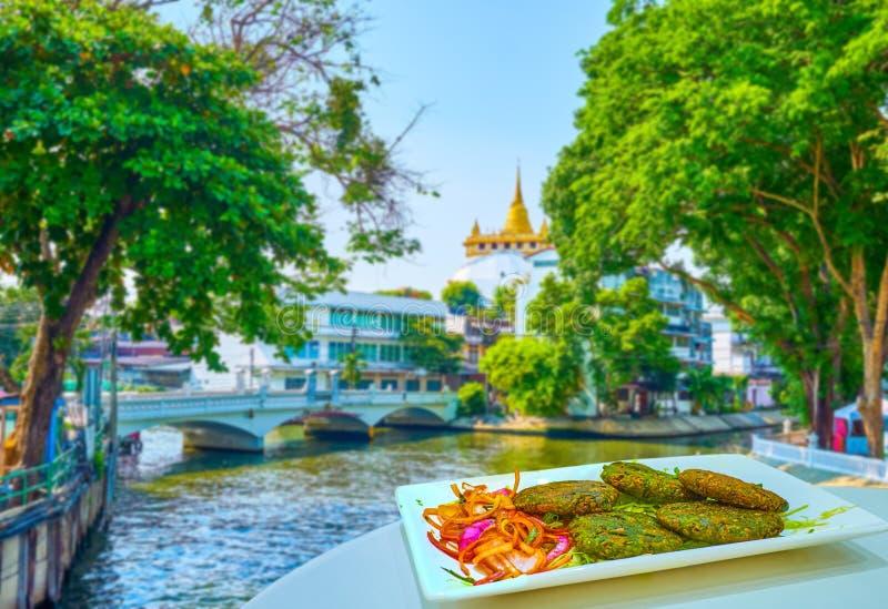 Indian cutlets in Bangkok, Thailand royalty free stock photo