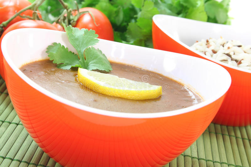 Download Indian Dal stock image. Image of coriander, healthy, tomatoes - 18851923