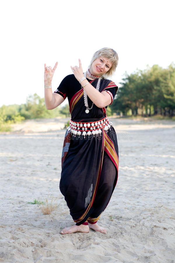 Indian dance stock image