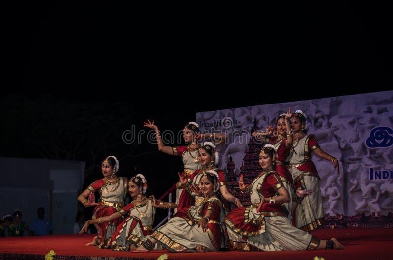 Indian Dance Festival, Mamallapuram 2016-17 royalty free stock photos