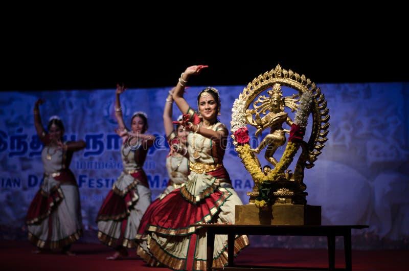 Indian Dance Festival, Mamallapuram 2016-17 royalty free stock image