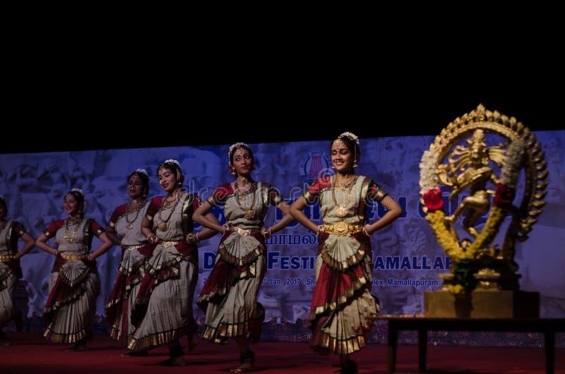 Indian Dance Festival, Mamallapuram 2016-17 stock photography