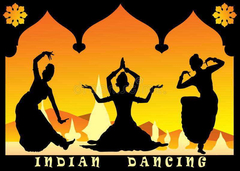 Download Indian dancing stock illustration. Illustration of graphic - 19720352