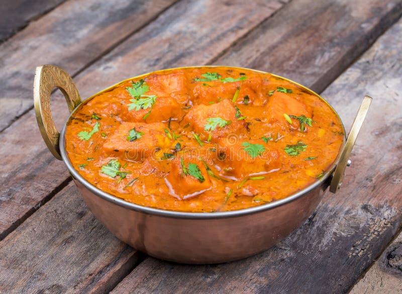 Indian Delicious Cuisine Paneer Tikka Masala. With Tandoori Chapati stock photos