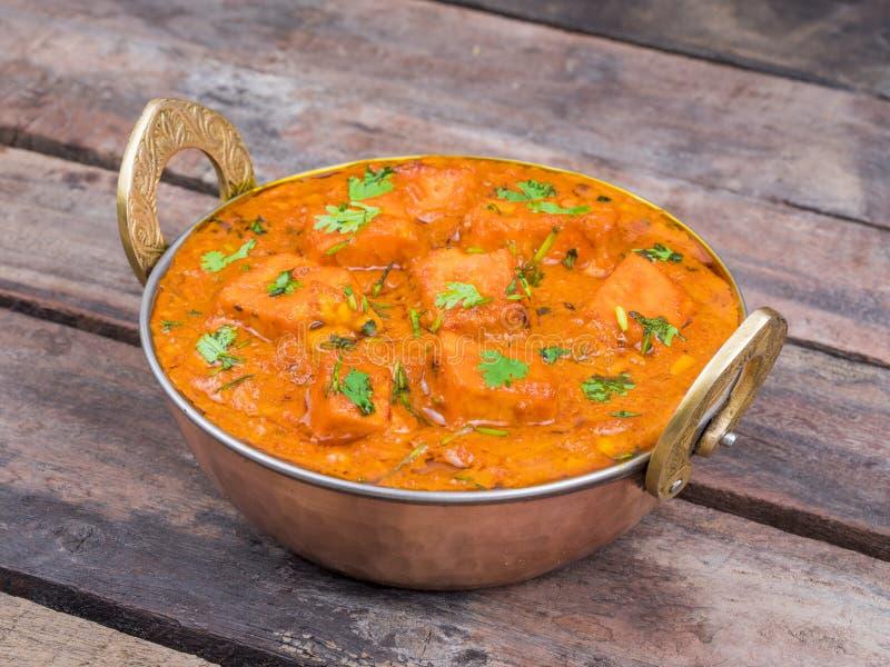 Indian Delicious Cuisine Paneer Tikka Masala. With Tandoori Chapati stock images