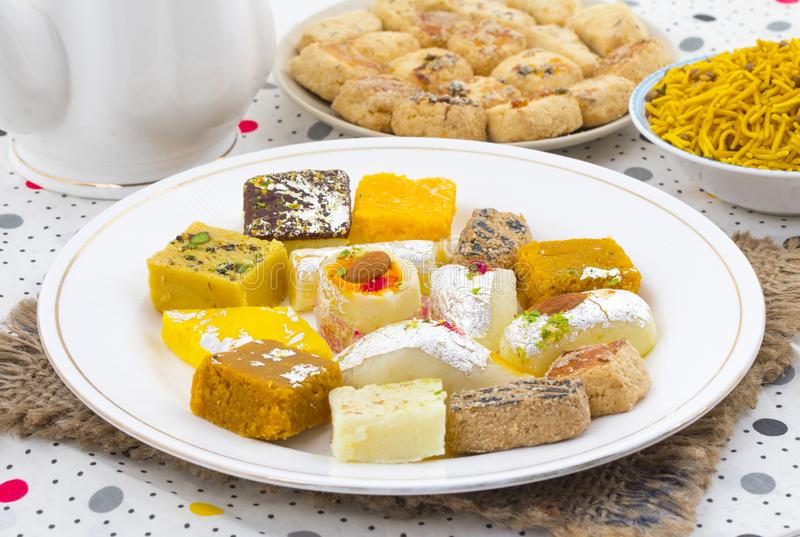 Indian Delicious Mix Sweet Food royalty free stock photography