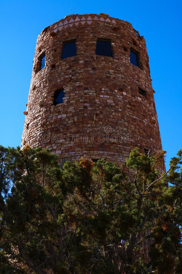 Indian Desert View Watchtower, the southern edge of the Grand Canyon, Arizona, USA royalty free stock photo
