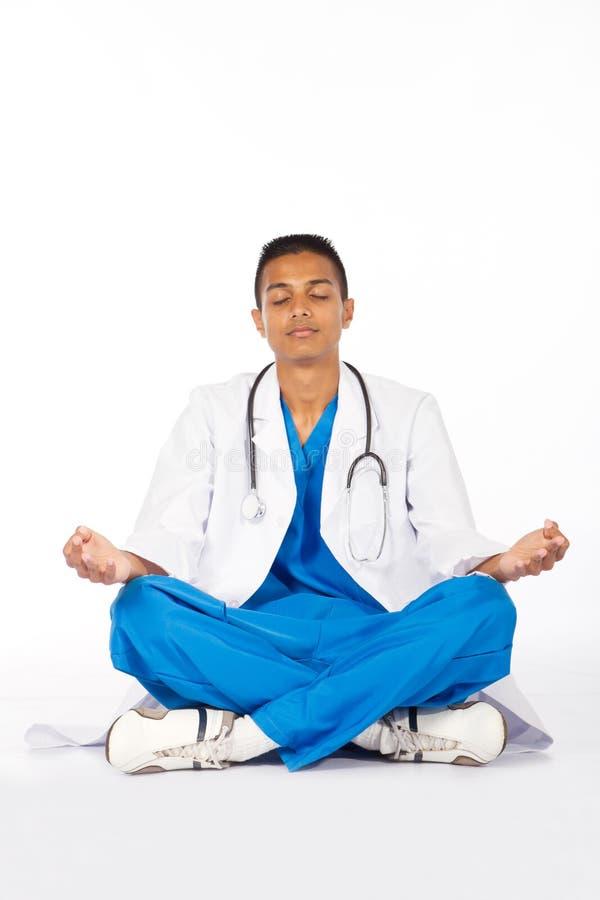 Indian Doctor Meditation Stock Photos