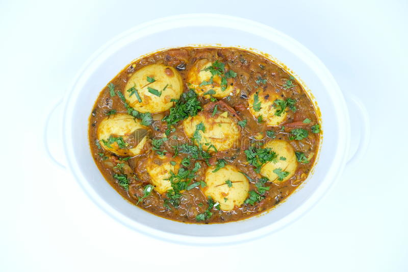 Indian egg curry. Ready to be eaten royalty free stock image