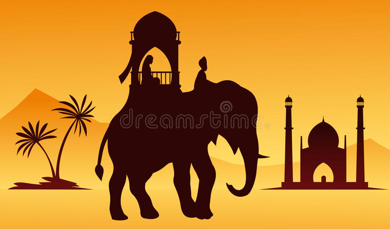 Download Indian Elephant stock vector. Illustration of animal - 15129928