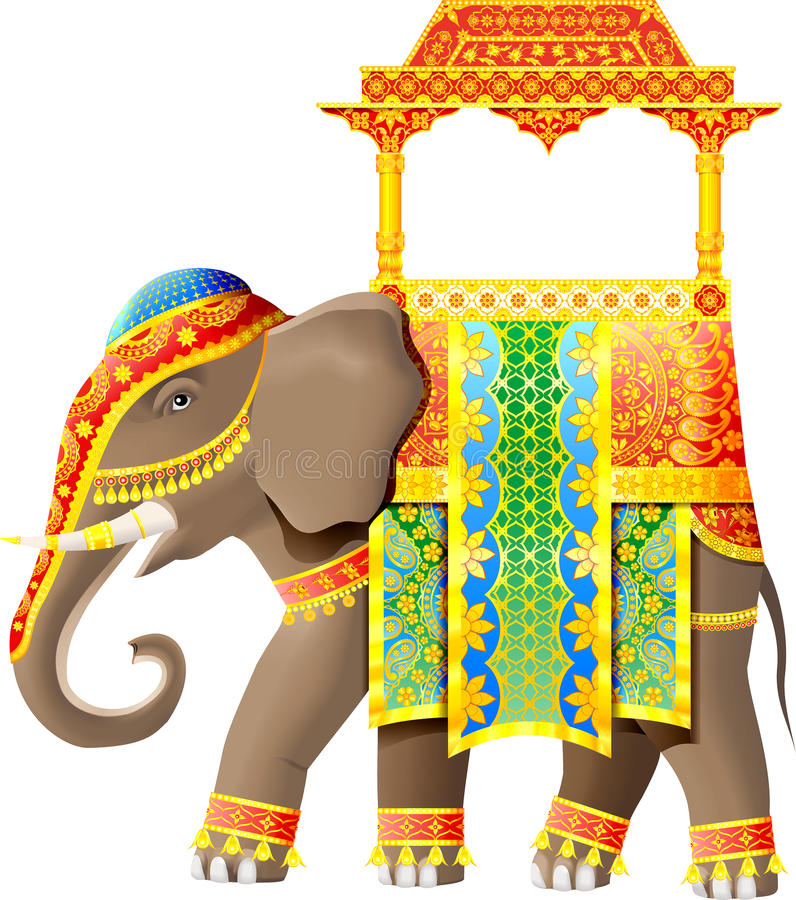 Download Indian elephant stock vector. Illustration of souvenir - 16781603