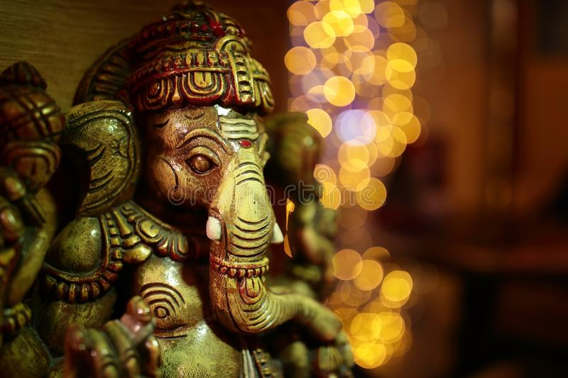 Indian elephant statue stock image