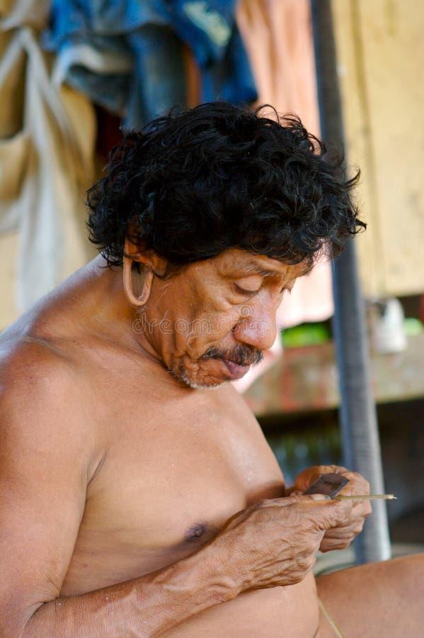 Indian envelhecido foto de stock