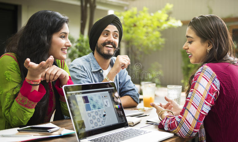 Indian Ethnicity People Interacting Concept stock photography