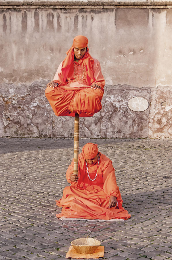 Indian Fakir Street Performers royalty free stock photography