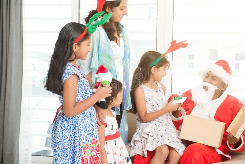 Indian family celebrating Christmas royalty free stock photography