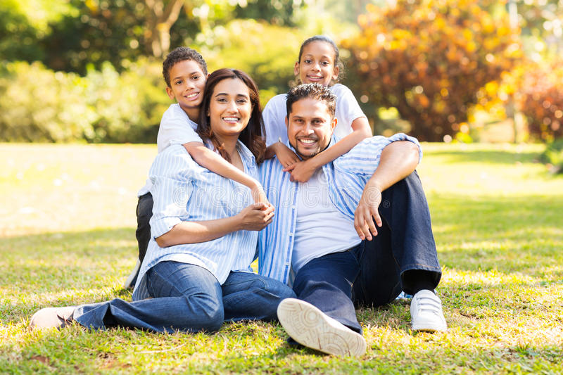 Indian family grass royalty free stock image