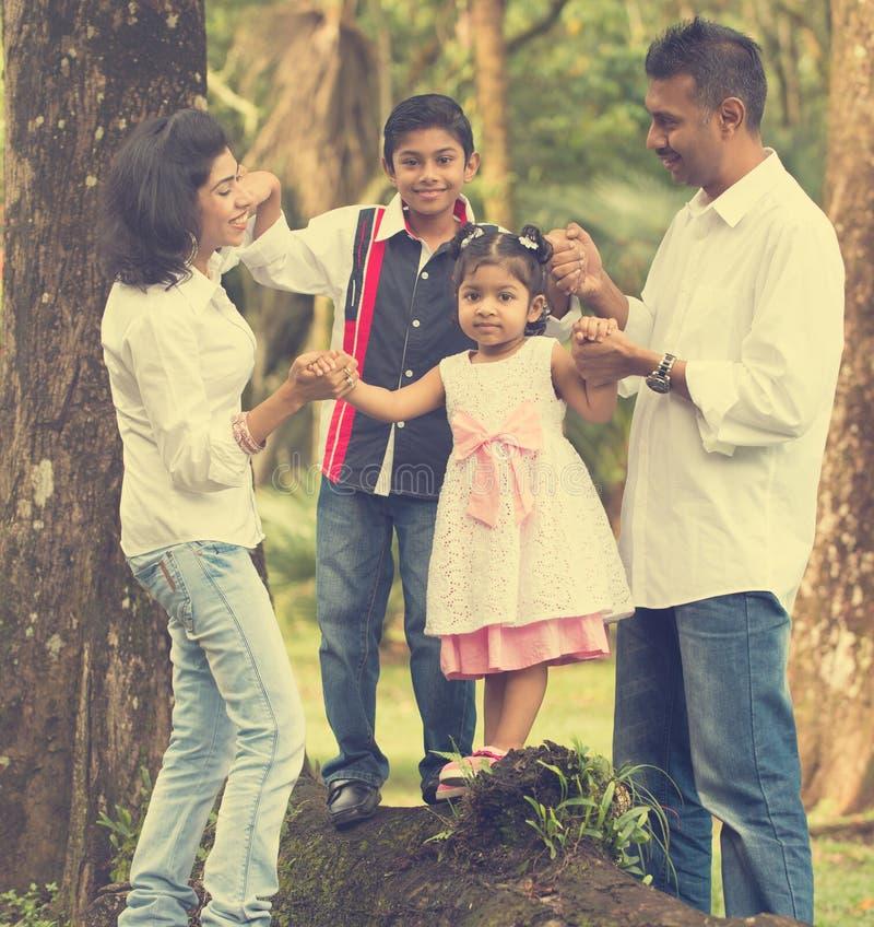 Indian family teaching stock image