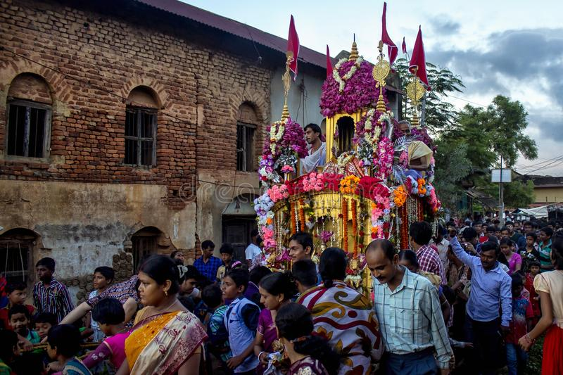 Rath Yatra. Indian Famous Ratha Yatra festival royalty free stock images