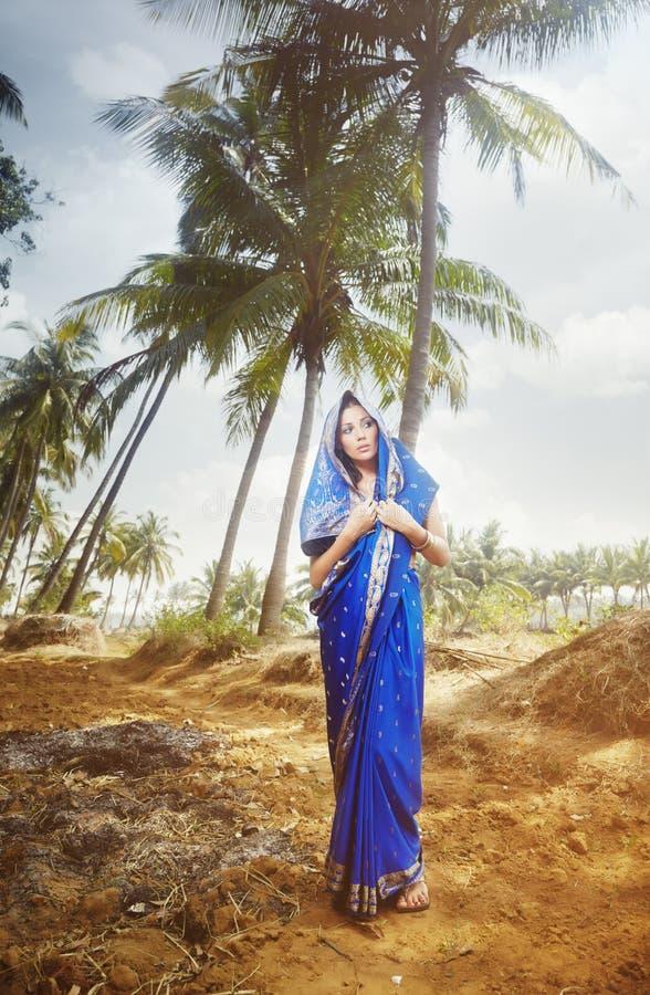 Download Indian fashion in sari stock image. Image of fashion - 15453809