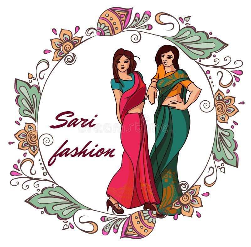 Indian fashion set stock illustration
