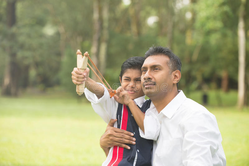 Indian father and son royalty free stock photos