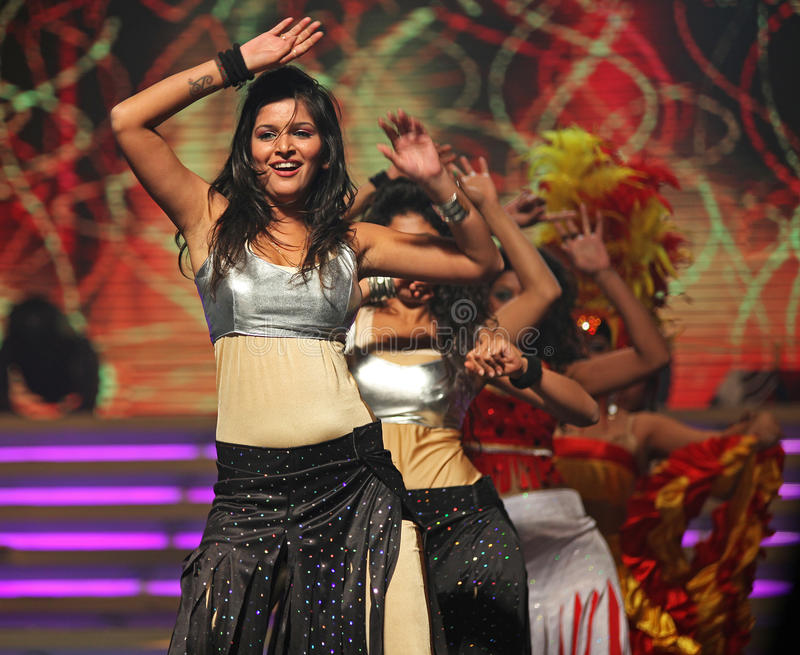Indian female dancers stock image