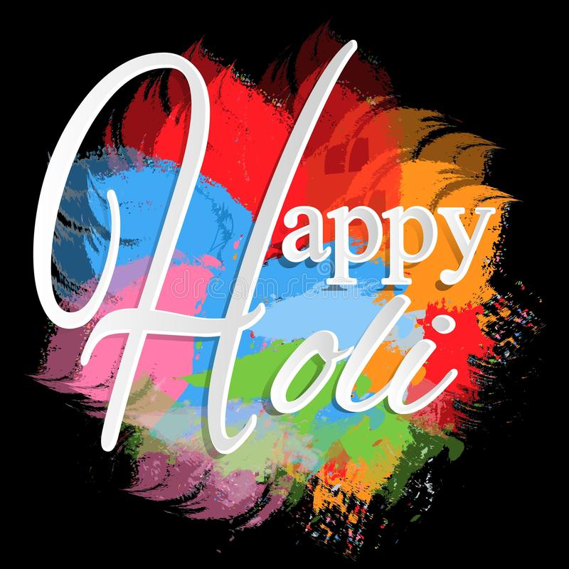 Indian festival of colors Holi happy. drawing elements to design a poster and flyer, gift cards, art. Happy holi elements. For card design , Happy holi design stock illustration