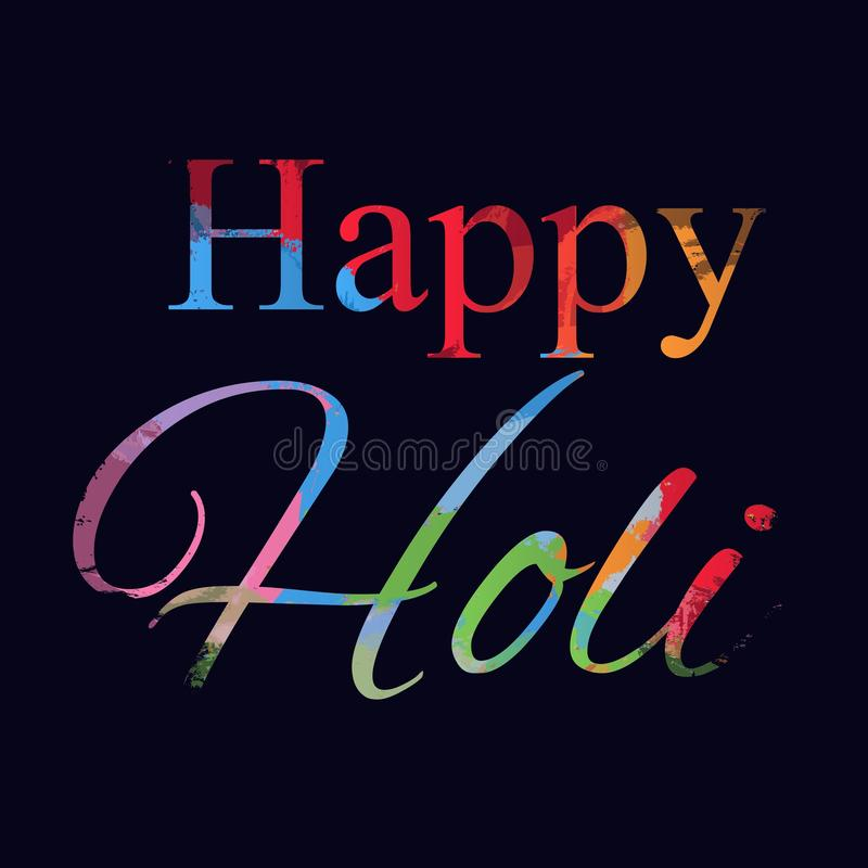 Indian festival of colors Holi happy. drawing elements to design a poster and flyer, gift cards, art. Happy holi elements. For card design , Happy holi design royalty free illustration