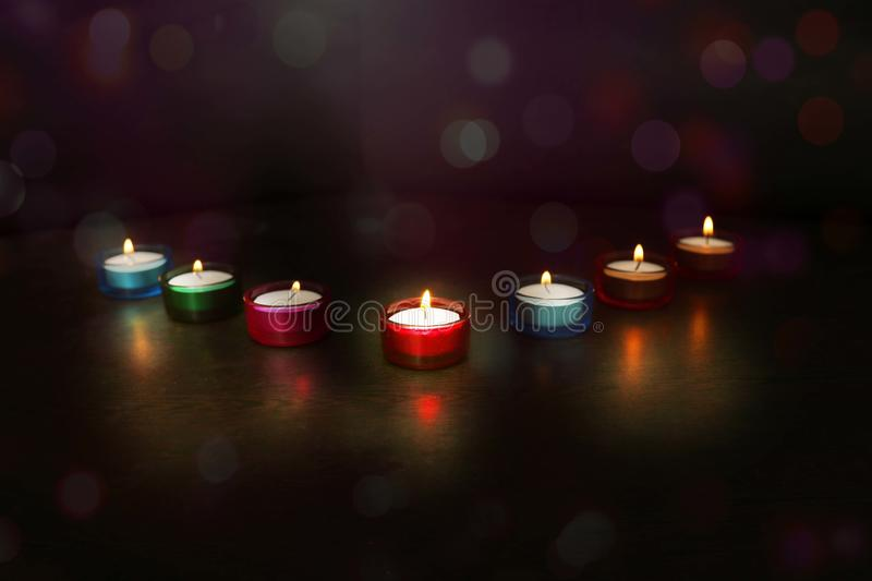 Indian festival Diwali. Picture of Diya lamps stock photo