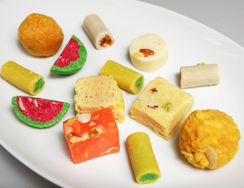 Indian festive party sweets royalty free stock image