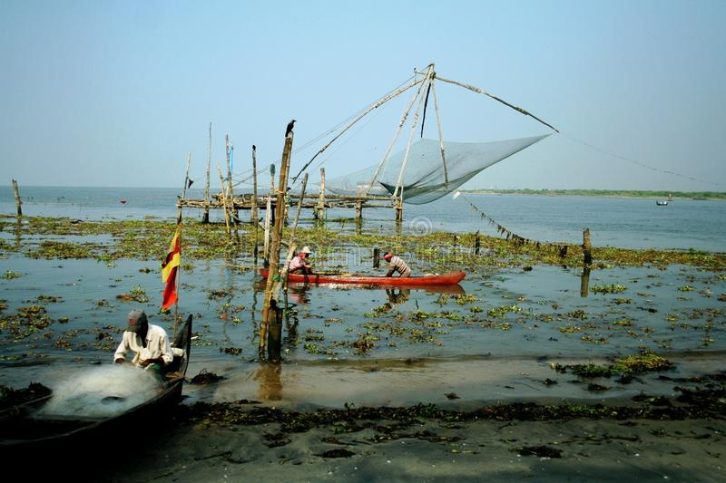Download Indian fishermen editorial stock photo. Image of cochin - 18041663