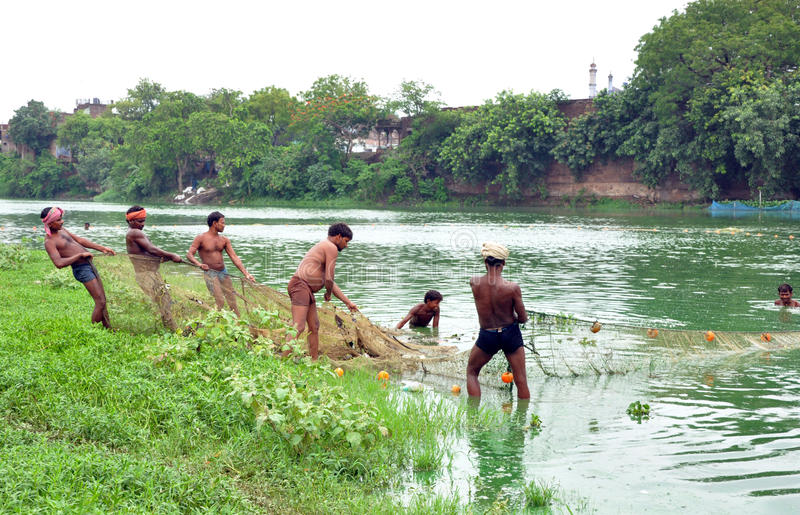 Download Indian fishermen editorial image. Image of water, people - 20616585